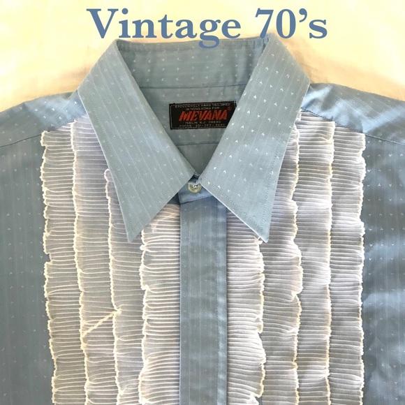 Vintage Men Tuxedo Shirt 7os Formal Prom 16534 | Poshmark